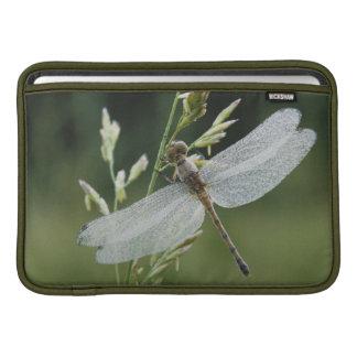 Dew covered Darner Dragonfly MacBook Sleeve