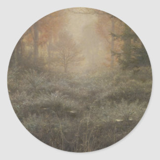 Dew-Drenched Furze by John Everett Millais Classic Round Sticker