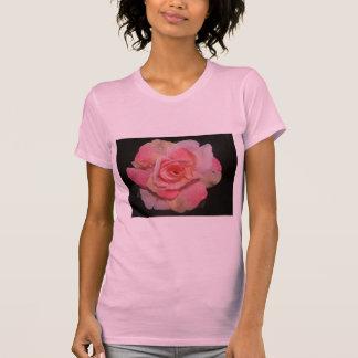 Dew Drop Pink Wedding Rose - Tshirt