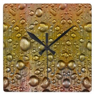 Dew drops Acrylic Wall Clock