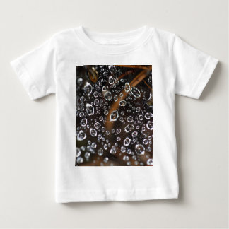 Dew drops in a spider net baby T-Shirt