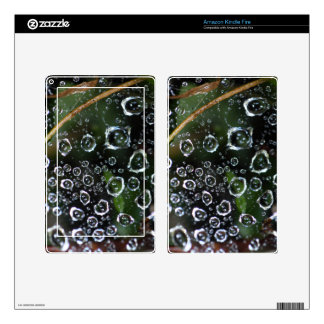 Dew drops in a spider net decal for kindle fire