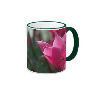 dew-drops-on-flower ringer ceramic mug