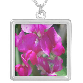 Dew Drops on Sweet Pea Custom Necklace