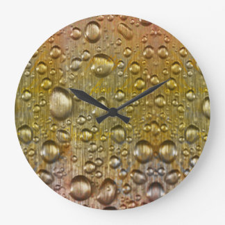 Dew drops Round (Large) Wall Clock