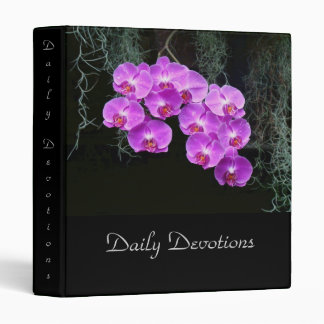 Dew-Kissed Orchids Vinyl Binder