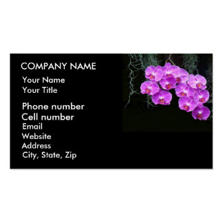 Dew-Kissed Orchids Business Card Template