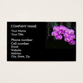 Dew-Kissed Orchids Business Card