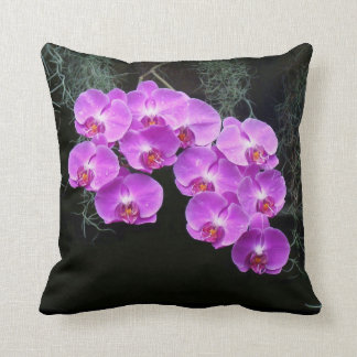 Dew-Kissed Orchids Throw Pillow