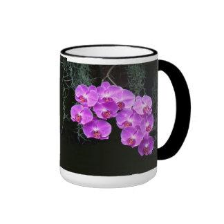 Dew-Kissed Orchids Ringer Coffee Mug