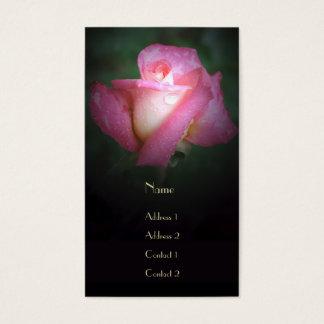 Dew-Kissed Pink Rose Business Card