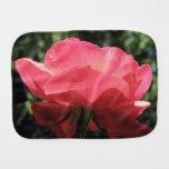 Dew Kissed Rose Burp Cloth