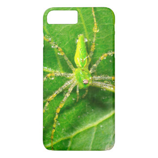 Dew on a Green Lynx Spider iPhone 7 Plus Case