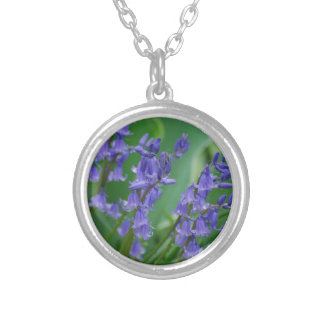 Dew on Bell Flowers Silver Plated Necklace