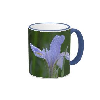 dew on flower ringer ceramic mug