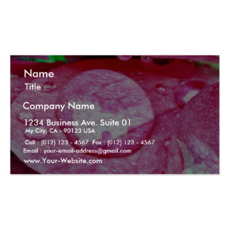 Dew On Rose In Balboa Park Business Card Template