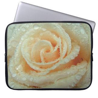 Dew on Rose Petals Computer Sleeves