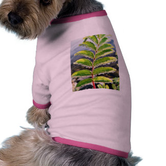 Dew On Rowen Green Leaves Dog T Shirt