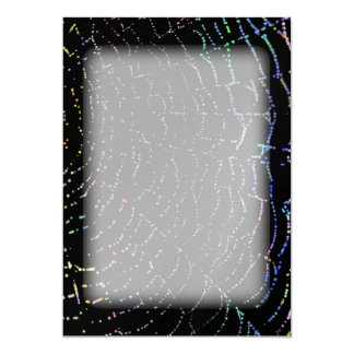 Dew Shiny Web Colorful On Black Background Design Card