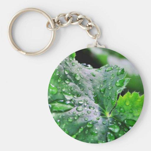 Dew Water Droplets Drops Keychain
