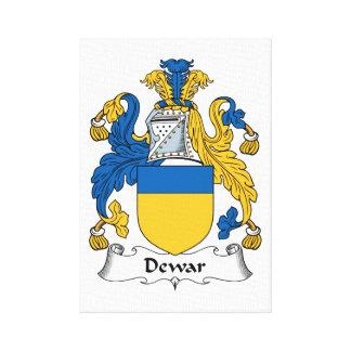 Dewar Family Crest Stretched Canvas Prints