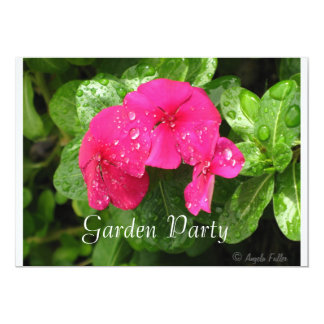 "Dewdrops on Periwinkle Garden Party Invitations 5"" X 7"" Invitation Card"