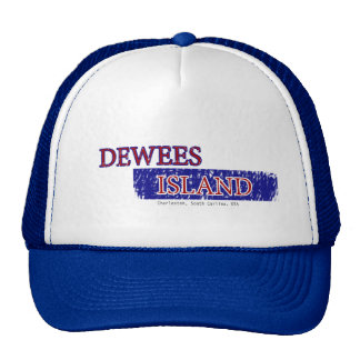 Dewees Island Trucks Hat in Red White and Blue