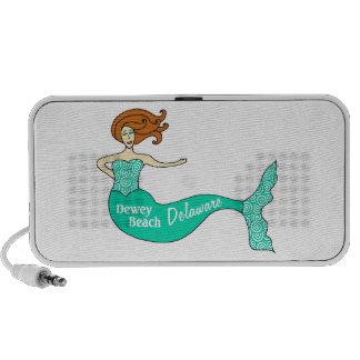 Dewey Beach, DE Mermaid Laptop Speakers