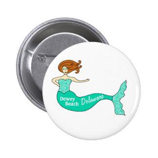 Dewey Beach DE Mermaid Round Pin