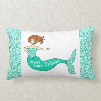 Dewey Beach, Delaware Mermaid Lumbar Throw Pillow