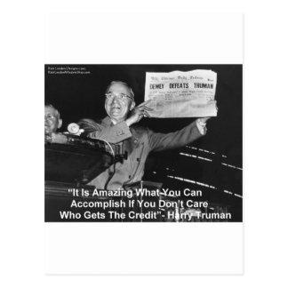 Dewey Beats Truman Funny Gifts Tees Buttons Etc Postcard