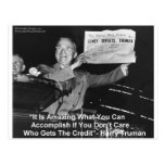 Dewey Beats Truman Funny Gifts Tees Buttons Etc Post Card