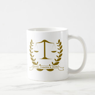 Dewey Cheatem and Howe Classic White Coffee Mug
