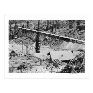 Dewey Gold Mine on Thunder Mountain, Idaho Postcard