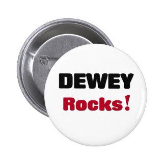 Dewey Rocks Pinback Button