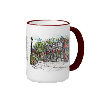 Dewey's Coffee House Shaker Square Mug