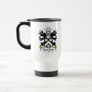 Dewi Sant Family Crest 15 Oz Stainless Steel Travel Mug