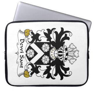 Dewi Sant Family Crest Computer Sleeves