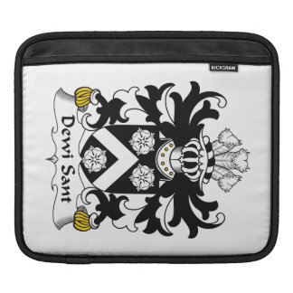 Dewi Sant Family Crest Sleeve For iPads