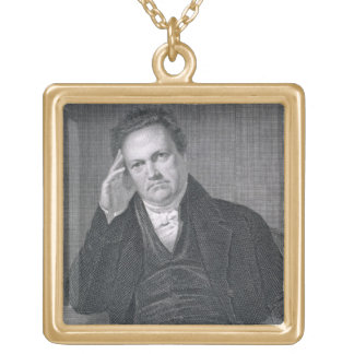 DeWitt Clinton, engraved by Asher Brown Durand (17 Square Pendant Necklace