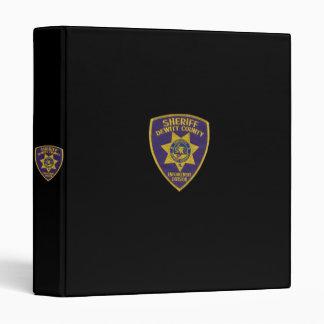 DeWitt County Sheriffs Department Binder