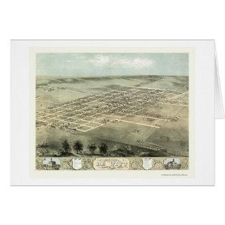 DeWitt, IA Panoramic Map - 1868 Card