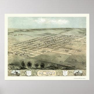 DeWitt, IA Panoramic Map - 1868 Poster