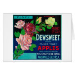 Dewsweet Apple Crate LabelWatsonville, CA Card