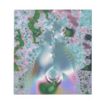 Dewy grass fractal memo note pad