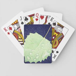 Dewy Leaf Themed Playing Card Standard Index faces