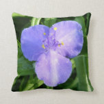 Dewy Trillium Blue Purple Spring Wildflower Throw Pillow
