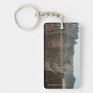 Dewy Web Single-Sided Rectangular Acrylic Keychain