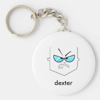 dex, dexter basic round button keychain