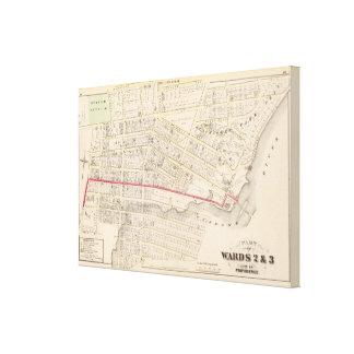 Dexter Asylum and Central Bridge Atlas Map Canvas Print
